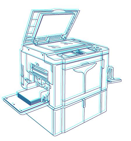 Risograph printer Outline